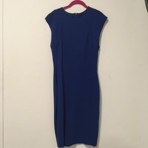 Stella McCartney Blue Sheath Midi Dress 44 10